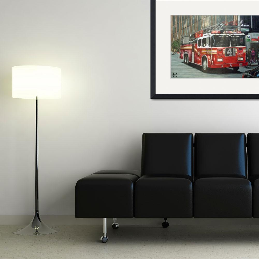 """""""NYFD Truck 4&quot  (2009) by Alford"""