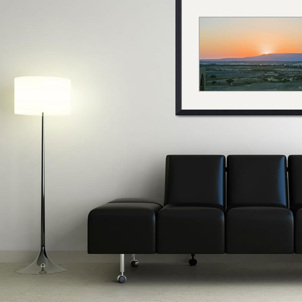 """""""Sunset over Dakhla Oasis&quot  (2010) by ChristopherByrd"""
