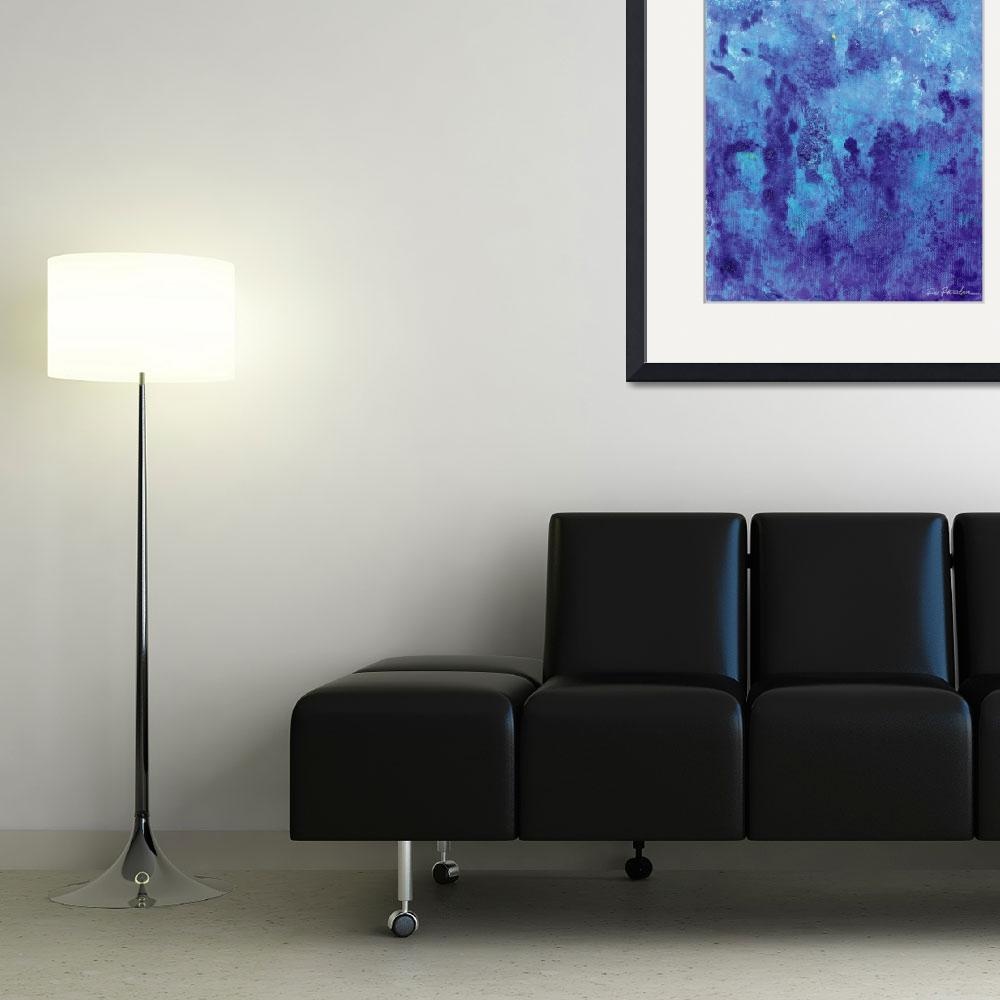 """""""Blue Every Now and Then - Blue Abstract&quot  (2013) by RDRiccoboni"""