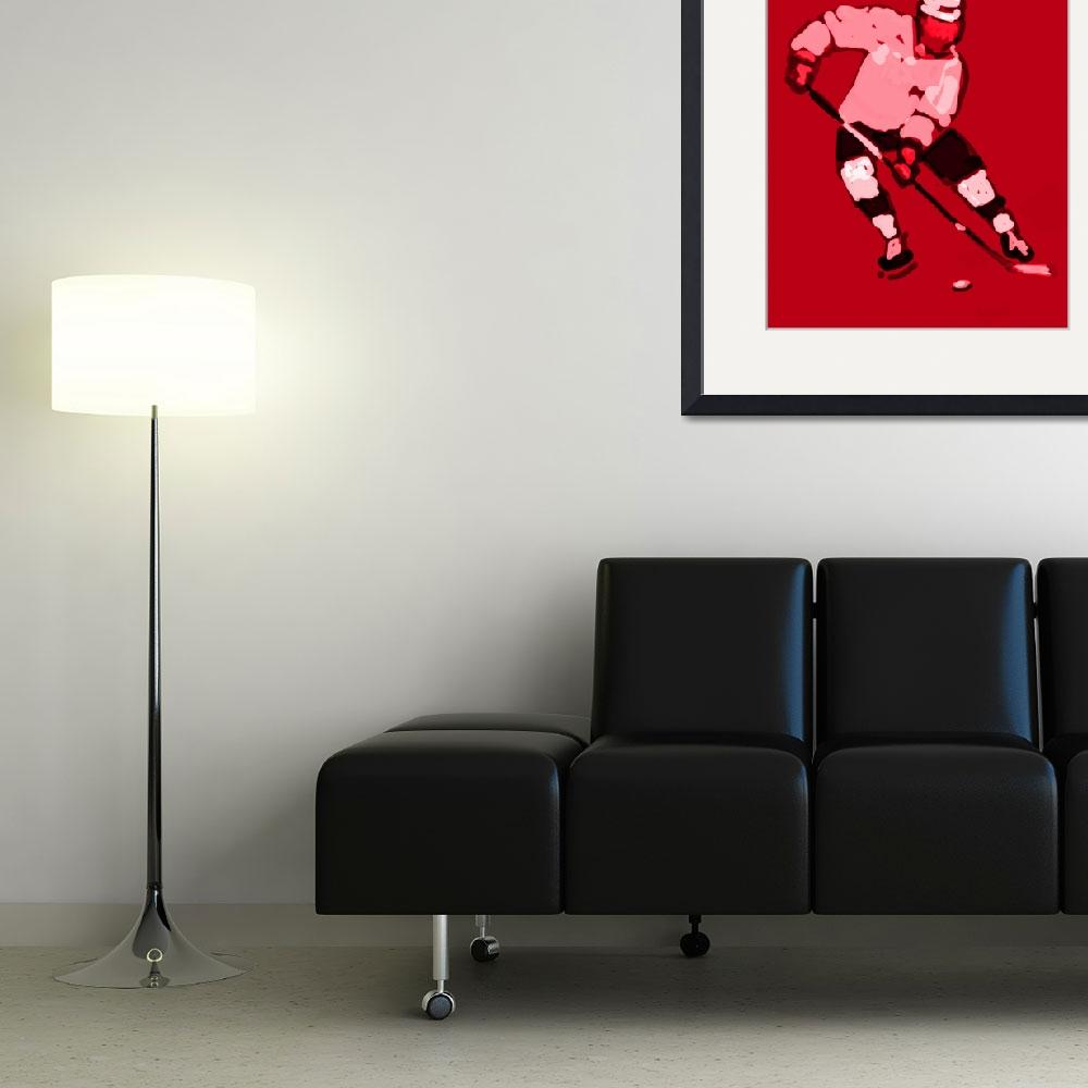 """""""Hockey Left Wing red gray black (c)&quot  (2014) by edmarion"""