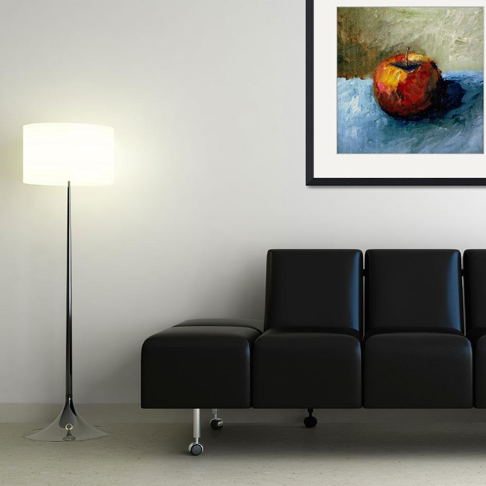 """""""Red Apple with Olive and Grey&quot  (2008) by Michelle1991"""