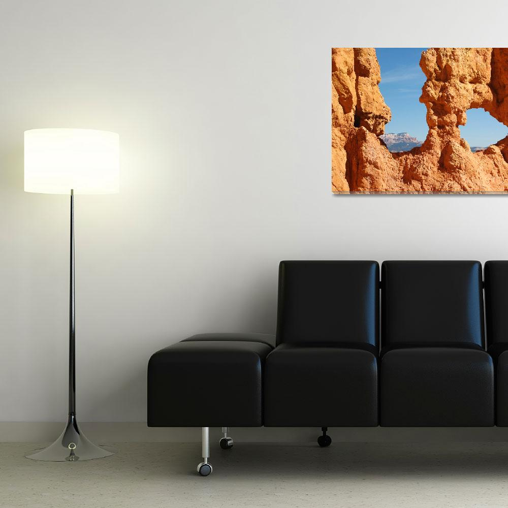 """""""Framed by Bryce Canyon&quot  (2006) by SueLeonard"""