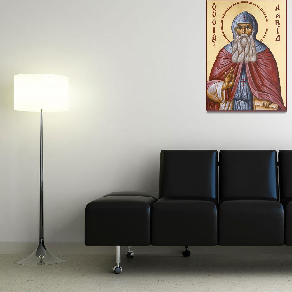 """""""St David of Evia&quot  (2008) by ikonographics"""
