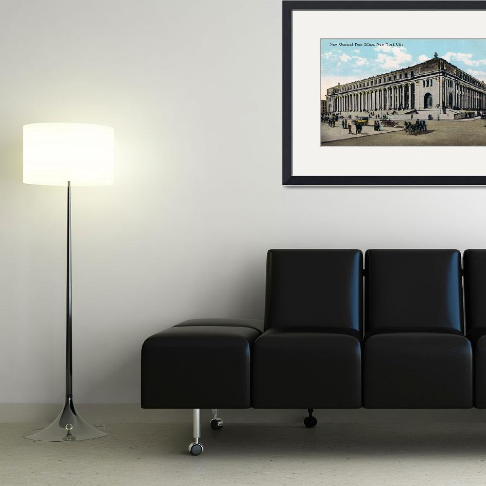 """""""Vintage NYC General Post Office Illustration&quot  by Alleycatshirts"""