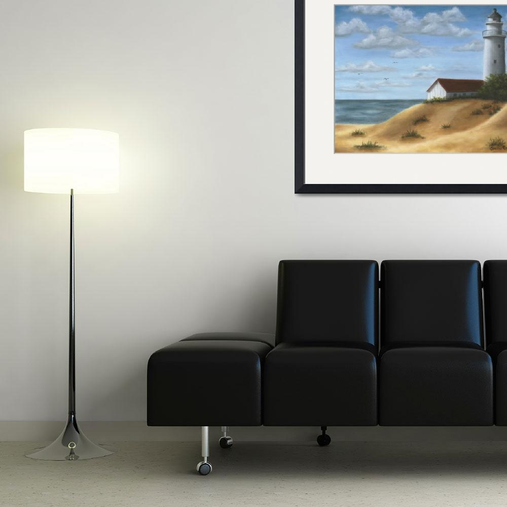 """""""Lighthouse on the Dunes&quot  by elainerittler"""
