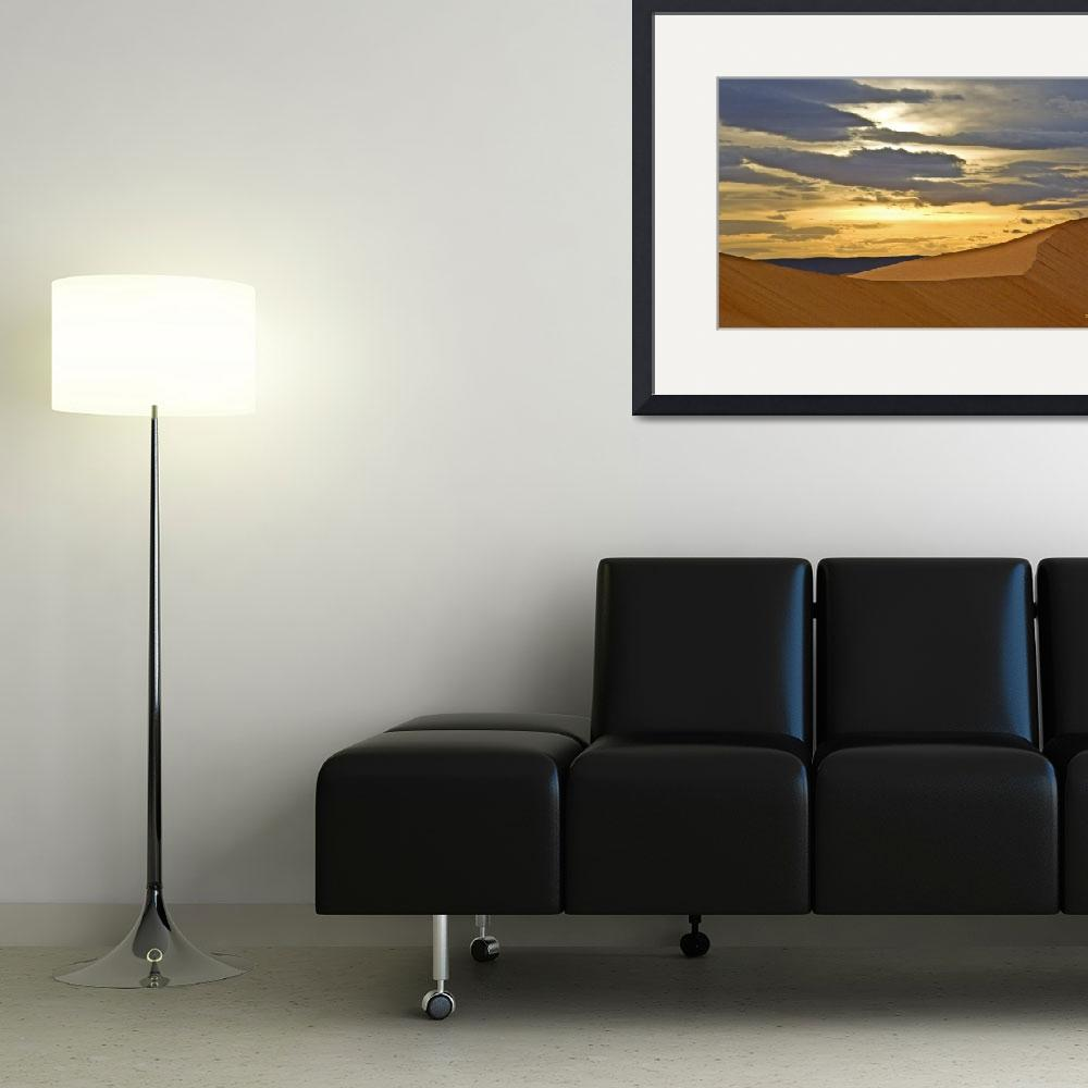 """Sahara dunes sunset""  (2013) by ChristopherByrd"