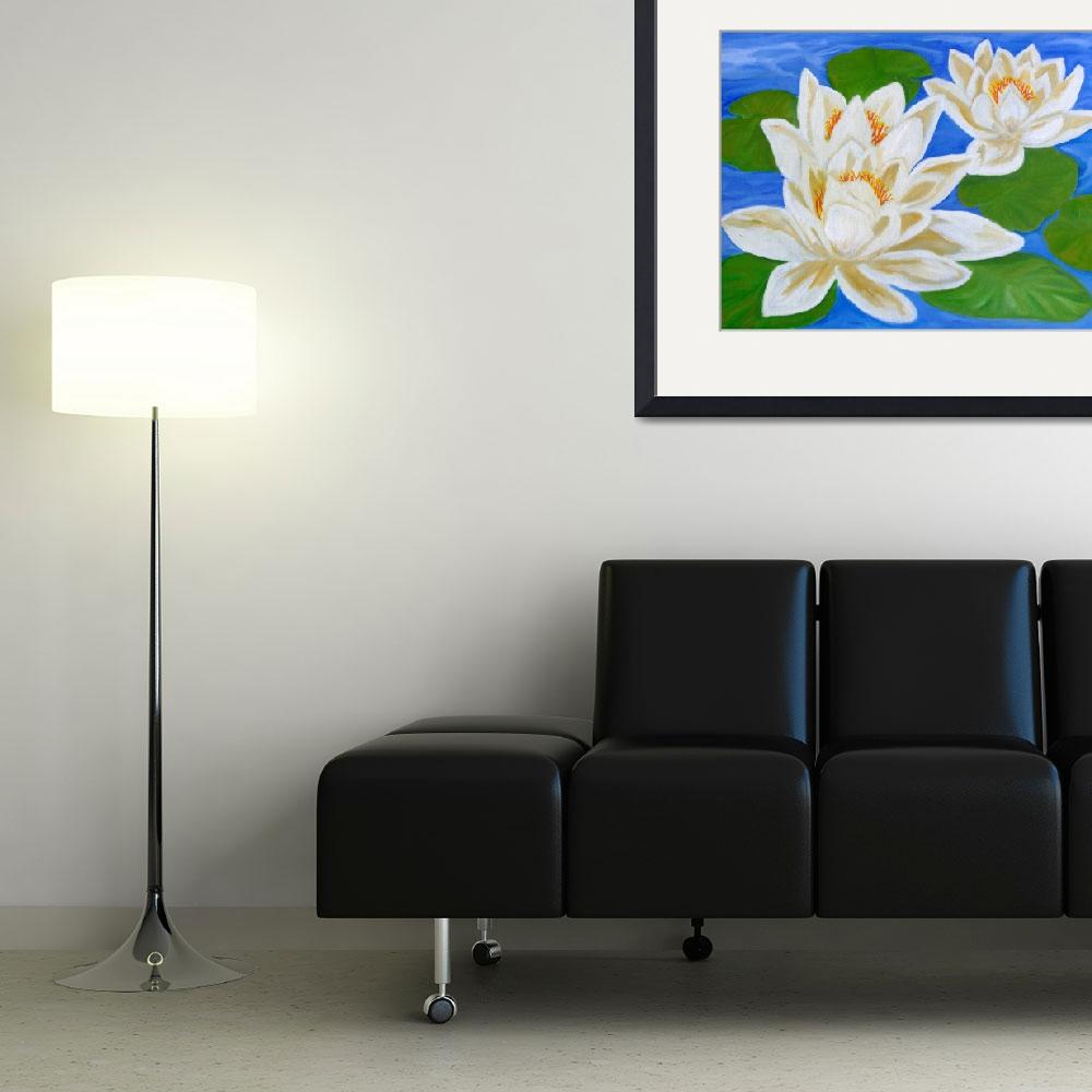 """""""White water lily&quot  (2010) by elajanus"""