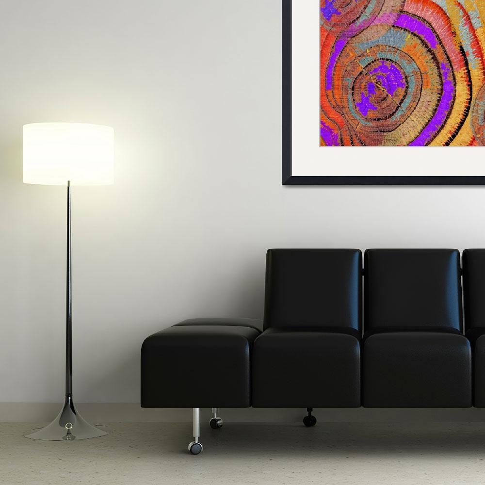"""""""Tree Ring Abstract&quot  (2013) by RubinoFineArt"""