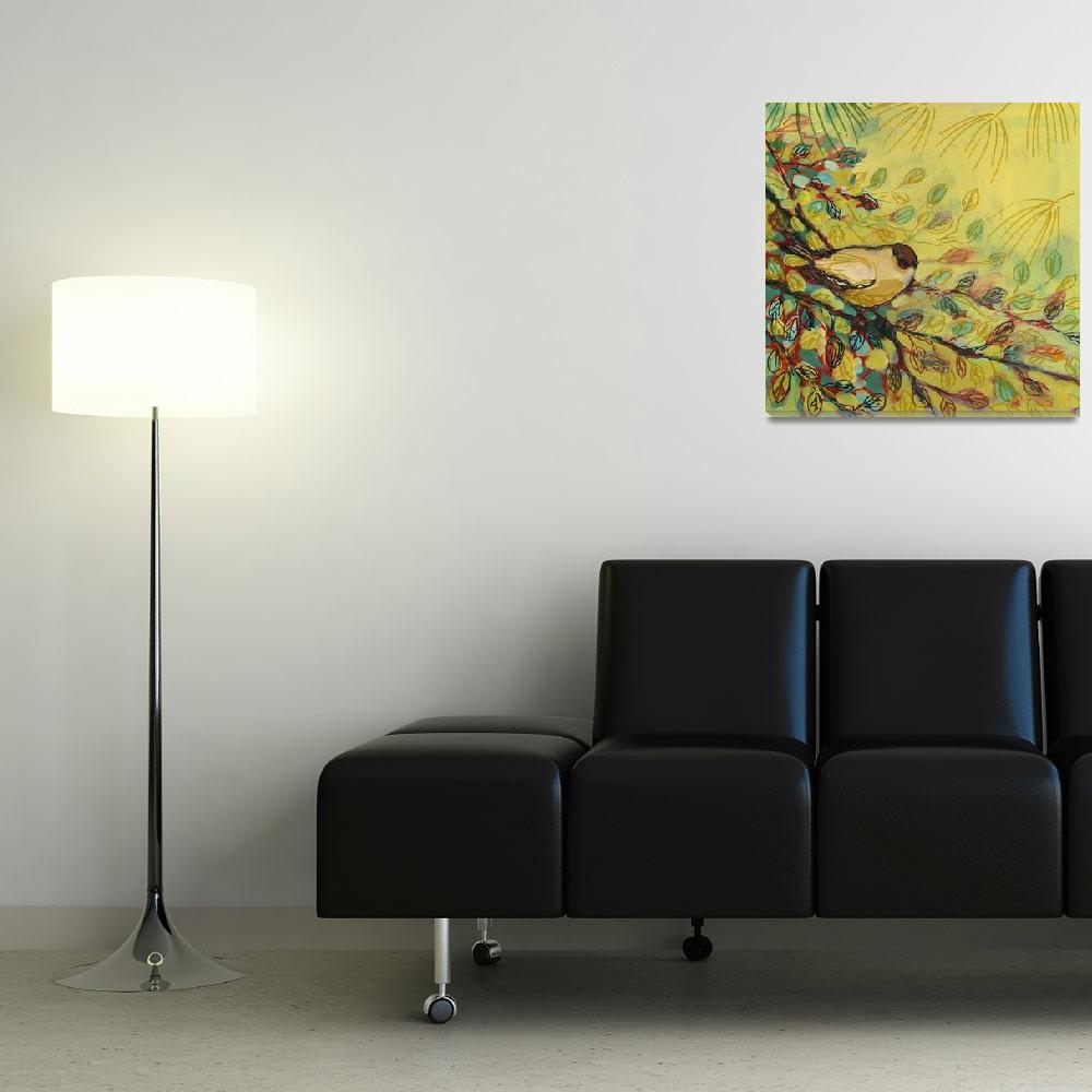 """""""Goldfinch Resting""""  (2008) by JENLO"""