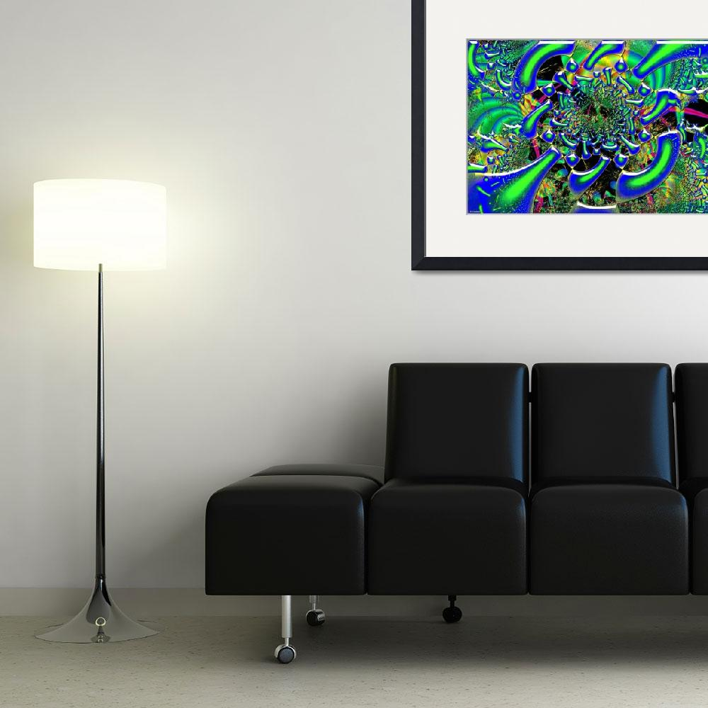 """""""Ring Around The Nucleus Fused Glass Fractal Art&quot  (2011) by ReneeLozenGraphics"""