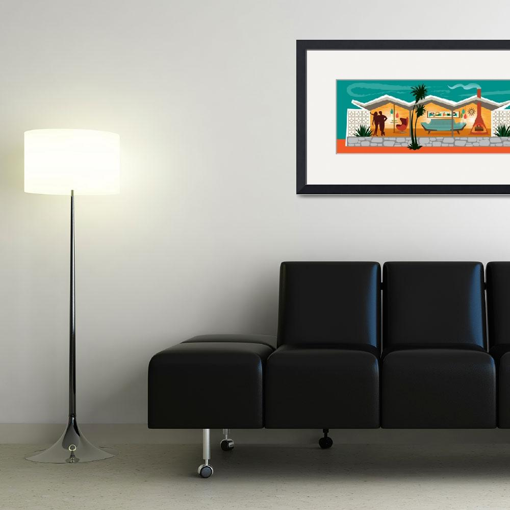 """""""Mid Century Modern House - Folded Plate Roof&quot  (2015) by DianeDempseyDesign"""
