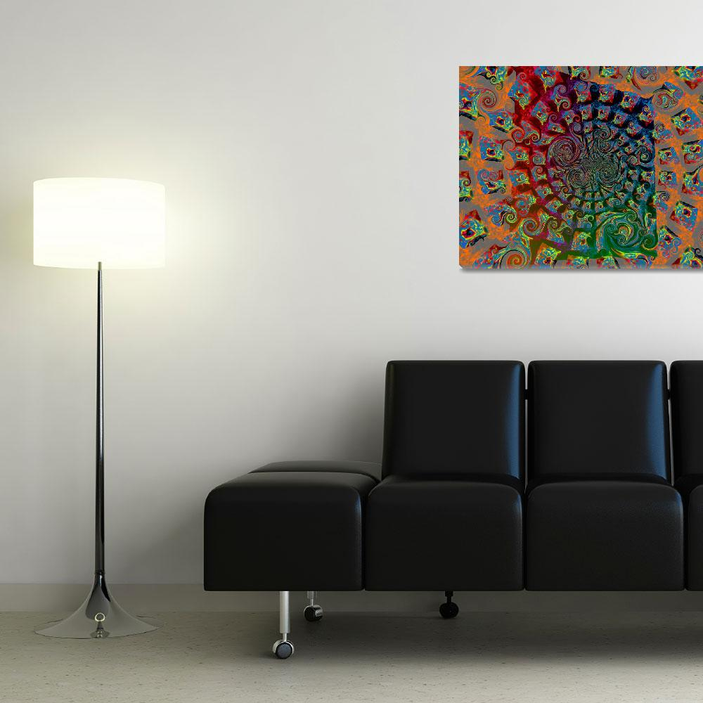 """""""Spinning Blocks of Fire 2&quot  (2011) by ArtWorksImageFactory"""