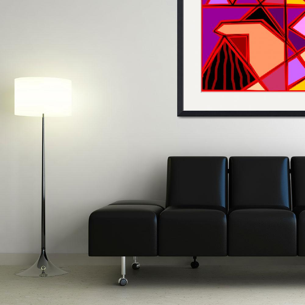 """""""Digital painting of triangles design""""  (2009) by digitalpainting"""