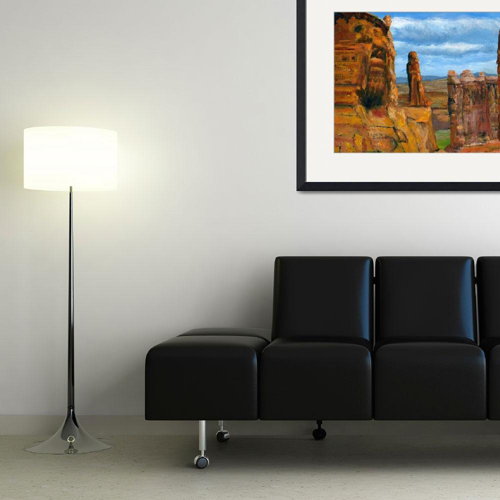 """""""Impressionist Utah Art; Arches National Park&quot  (2008) by Lenora"""