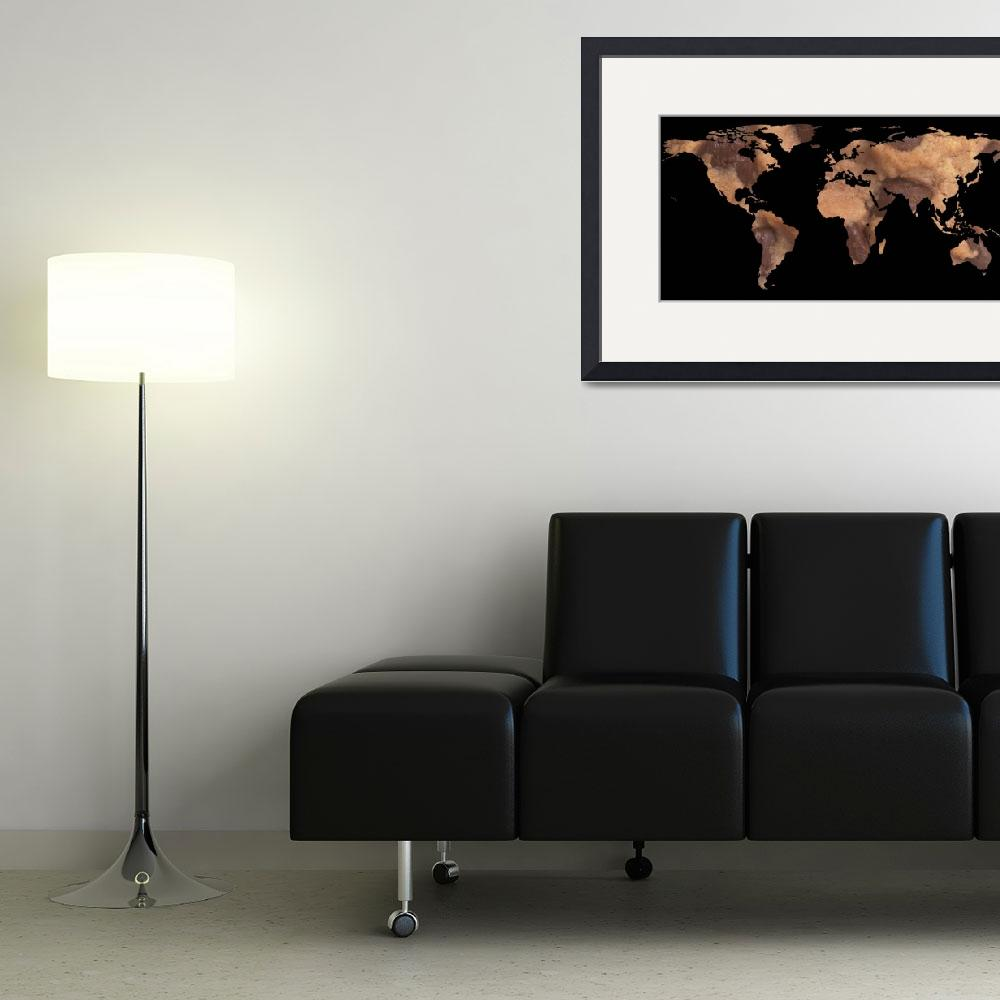 """""""World Map Silhouette - Cookie&quot  by Alleycatshirts"""