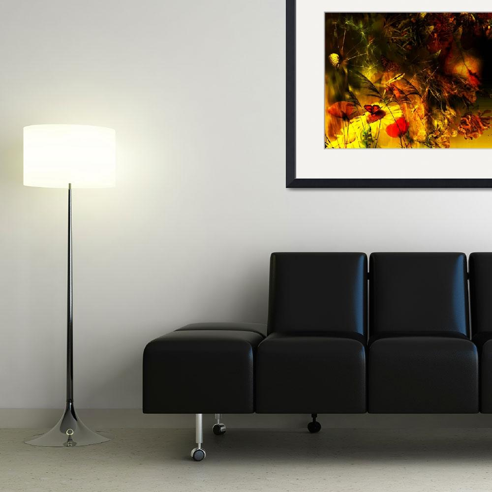 """""""Abstract floral poster&quot  by IndianSummer"""
