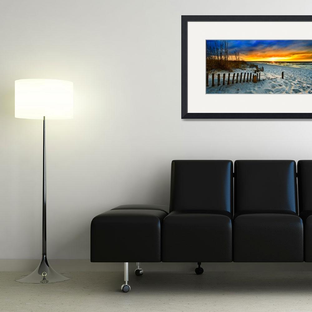 """panoramic landscape art print red sunset sunrise&quot  (2014) by eszra"