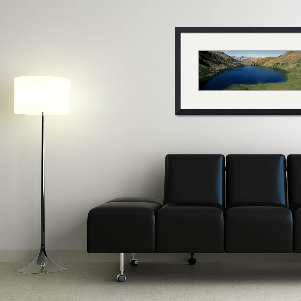 """""""Mountains surrounding a lake&quot  by Panoramic_Images"""