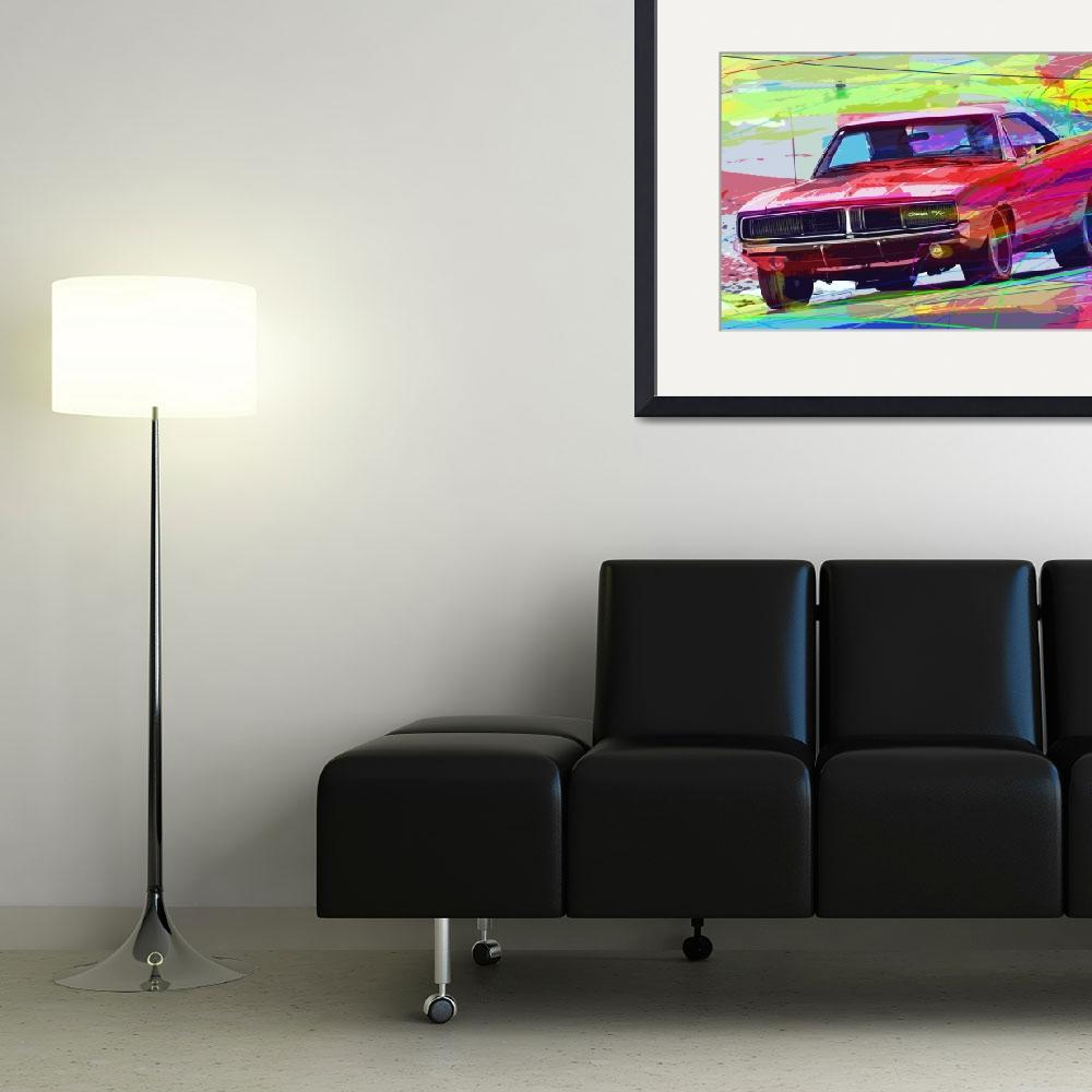 """1969 Dodge Charger Hemi""  (2012) by DavidLloydGlover"