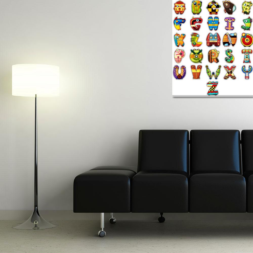 """""""Super Alphabet Poster (No background)&quot  (2011) by MikeCressy"""