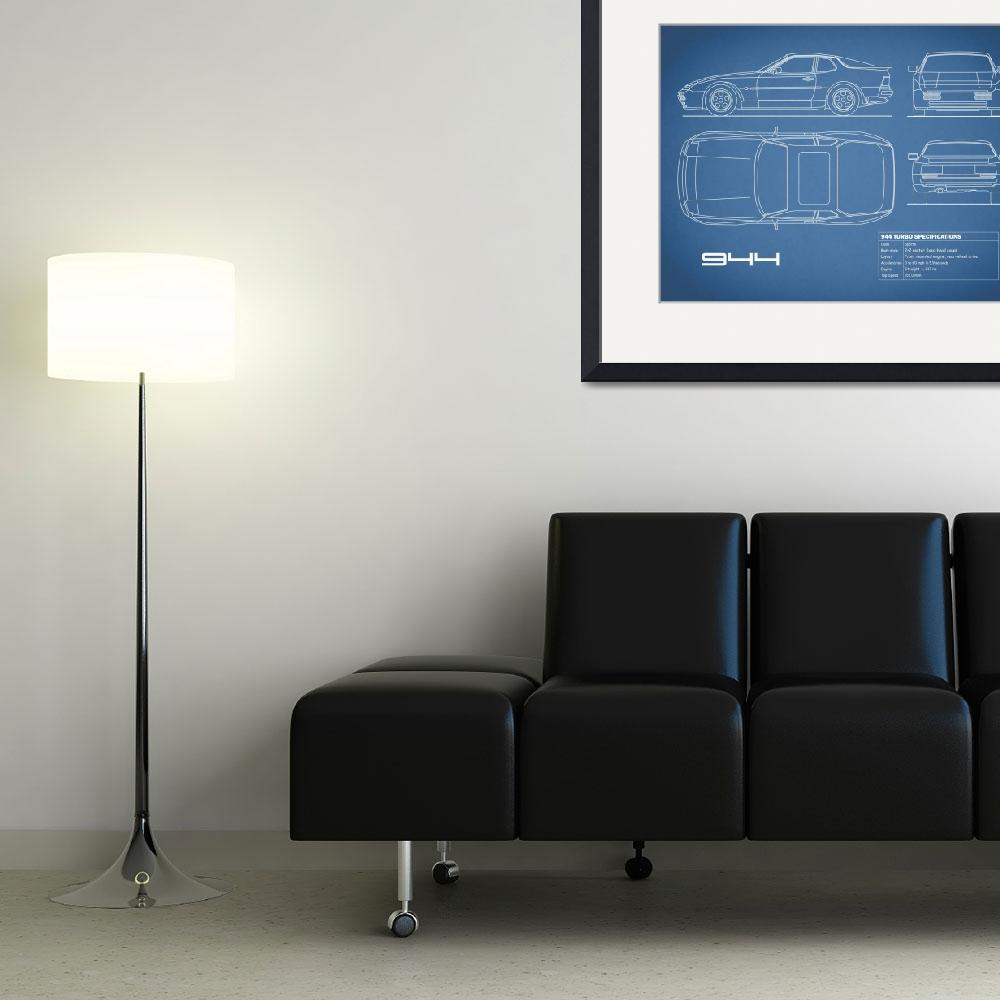 """A 944 Turbo Blueprint&quot  (2015) by mark-rogan"