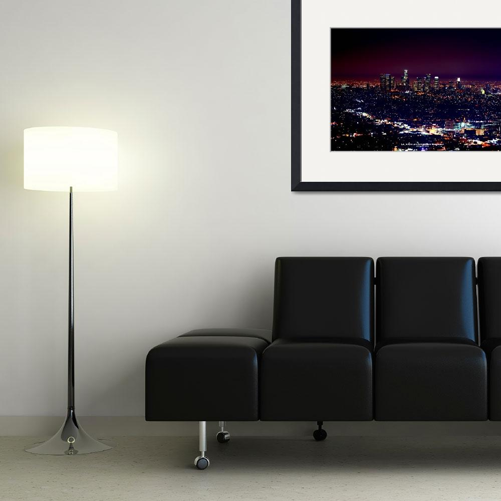 """""""Los Angeles at Night&quot  (2008) by JJS"""