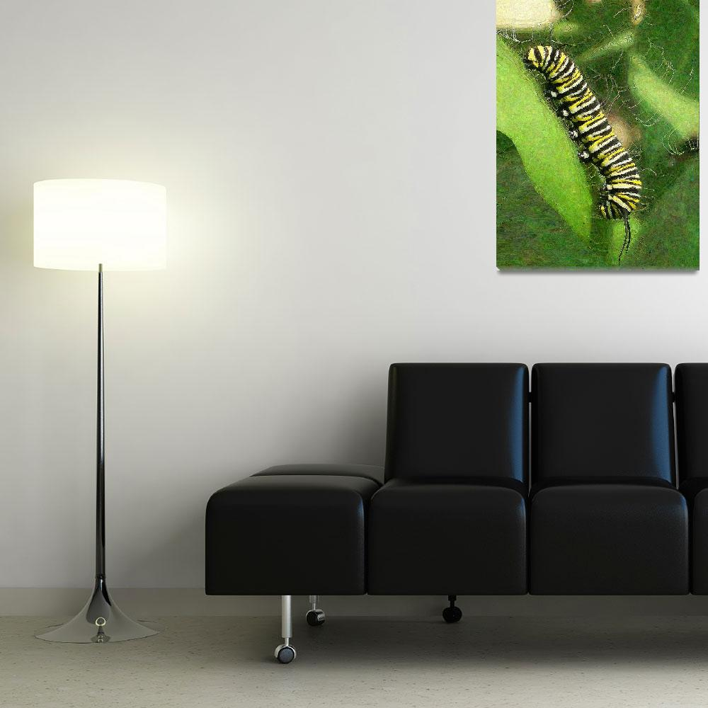 """Monarch Caterpillar - Sunset Relaxing""  (2015) by HatchAnIdea"