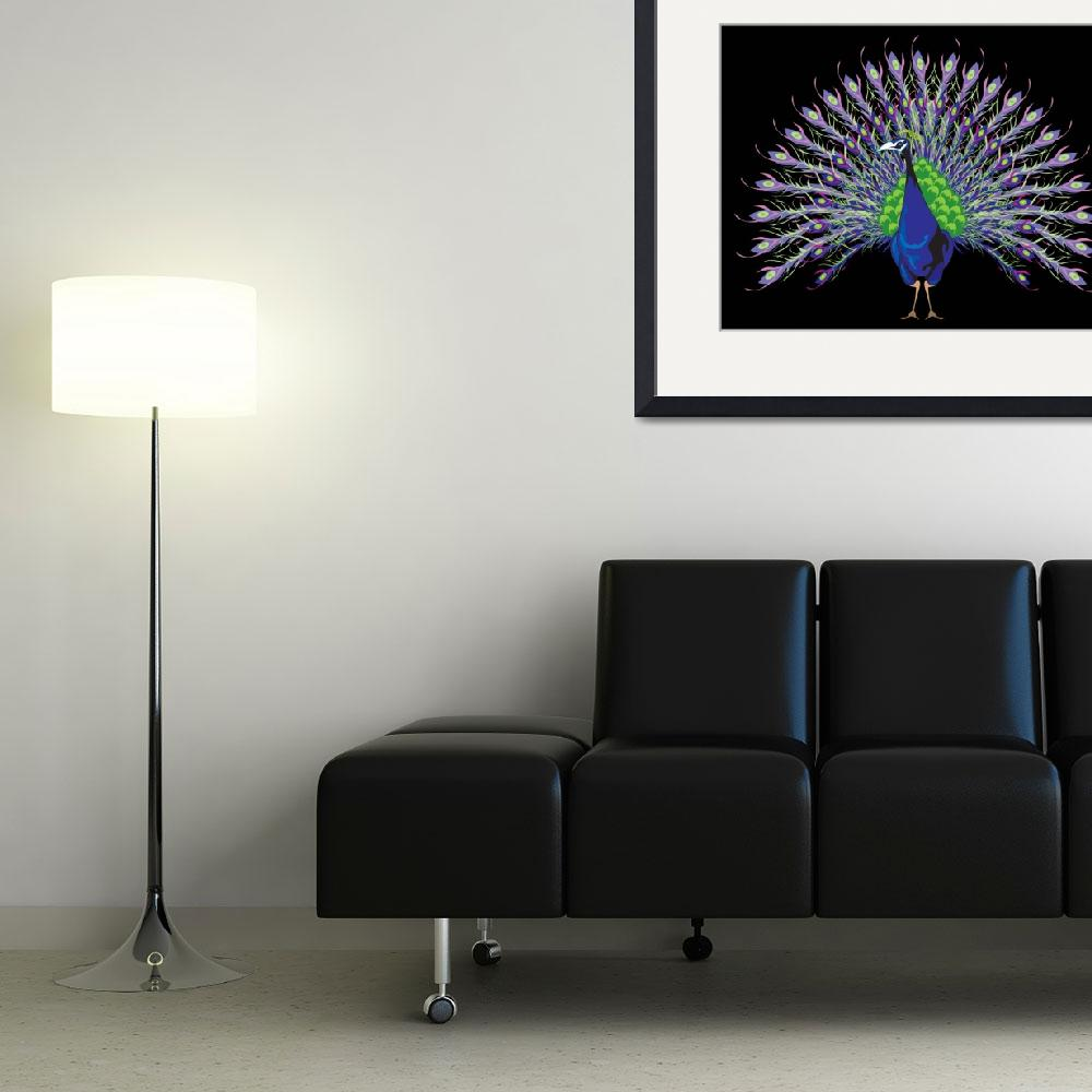 """""""Peacock&quot  (2010) by Azodnem"""