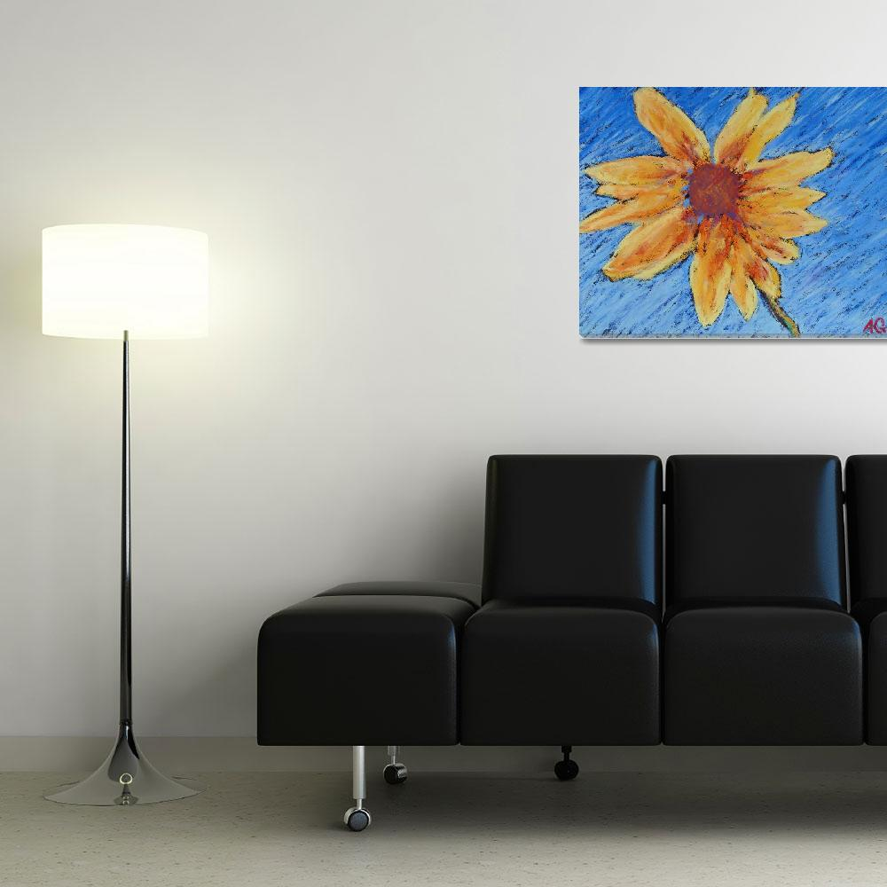 """""""Sunflower""""  (2011) by AbbieGroves"""