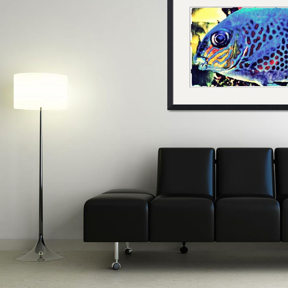 """""""Blue Tropical Fish Art Work&quot  (2012) by MissDawn"""