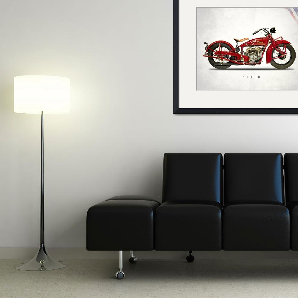 """""""The 1929 Indian Scout 101&quot  by mark-rogan"""