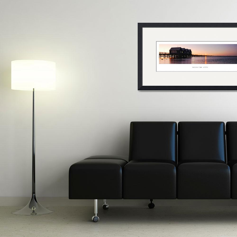 """""""Sunset over Busselton Jetty&quot  (2008) by d3d"""