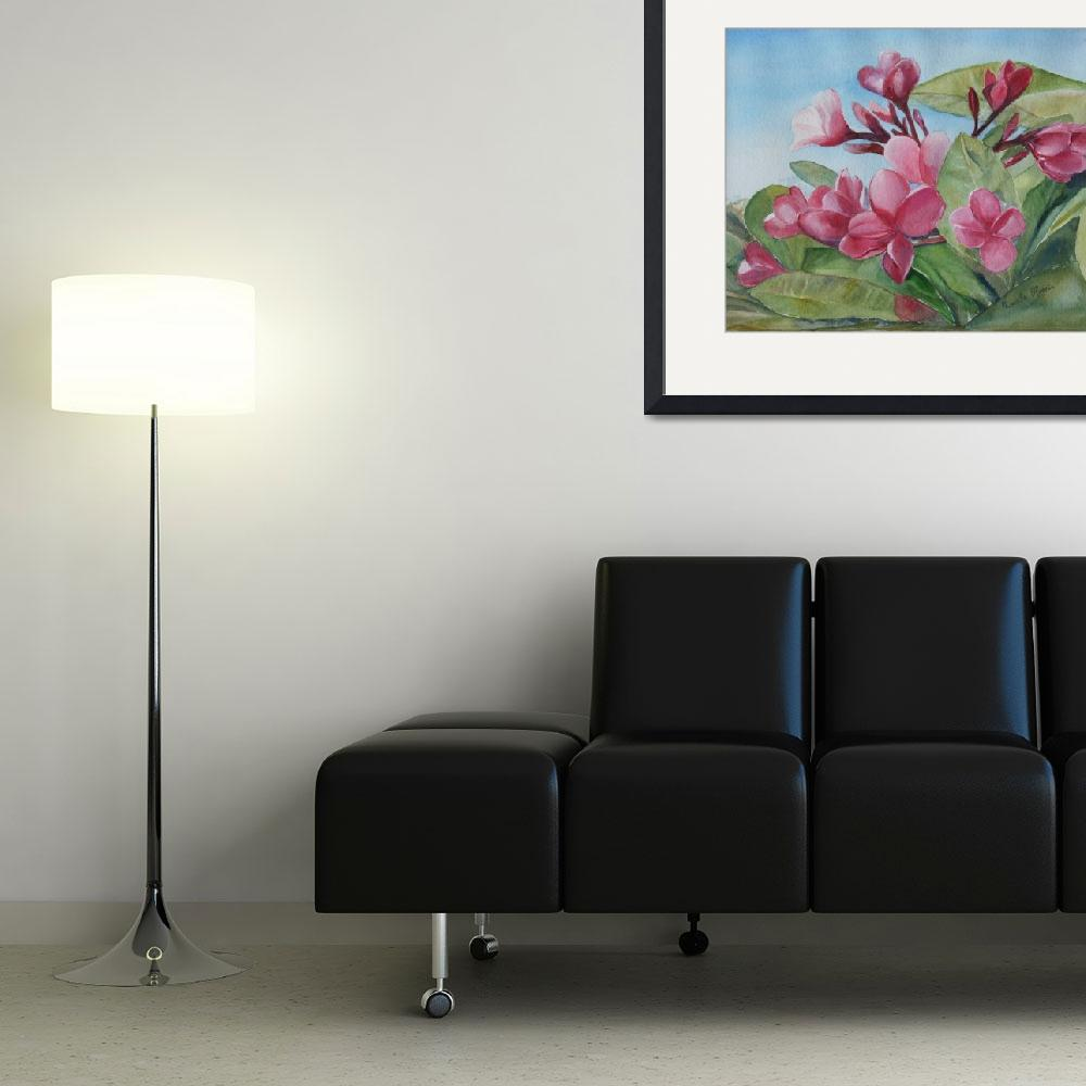 """""""Frangipani&quot  (2009) by artypam"""