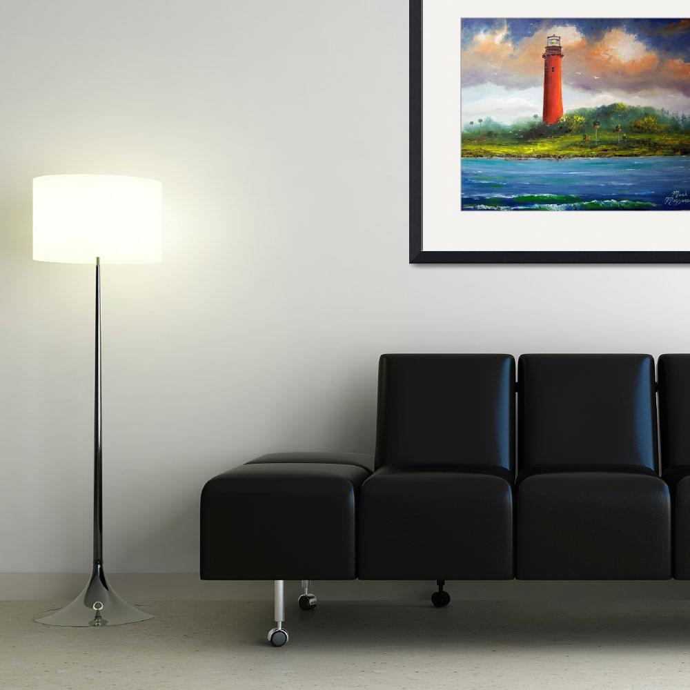 """""""Jupiter Florida Lighthouse Painting&quot  (2014) by mazz"""