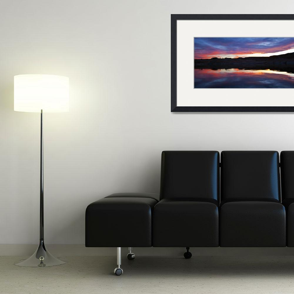 """""""Lake Powell SunSet - Pan&quot  (2009) by FindleyPhoto"""