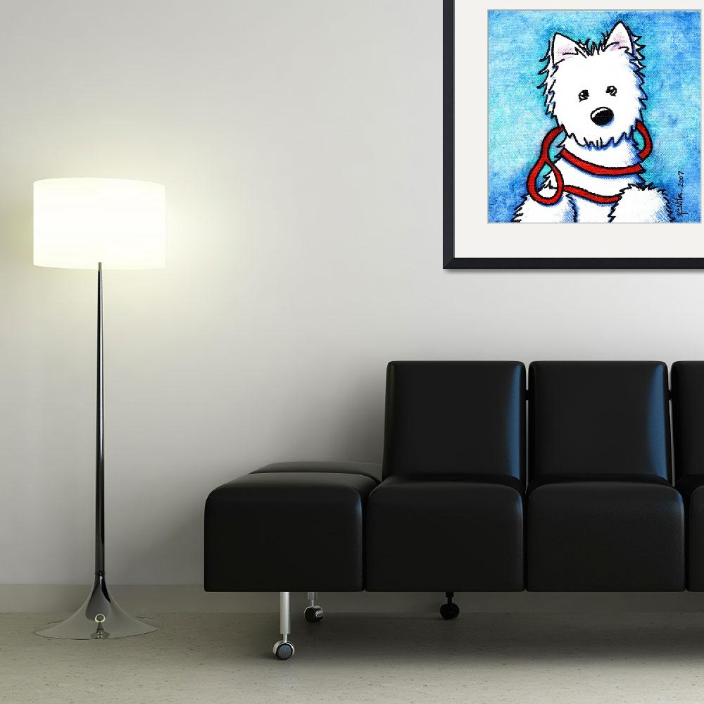 """""""Westie At The Ready&quot  (2007) by KiniArt"""