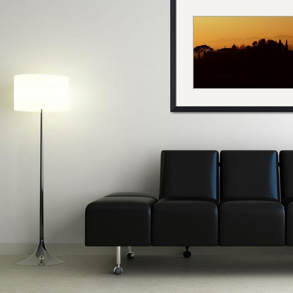 """""""Silhouette of an Asolo Hillside&quot  by DonnaCorless"""