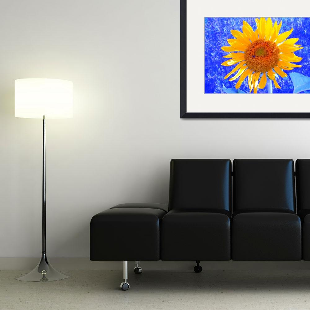 """""""Blue Sunflower&quot  (2008) by amythomas"""