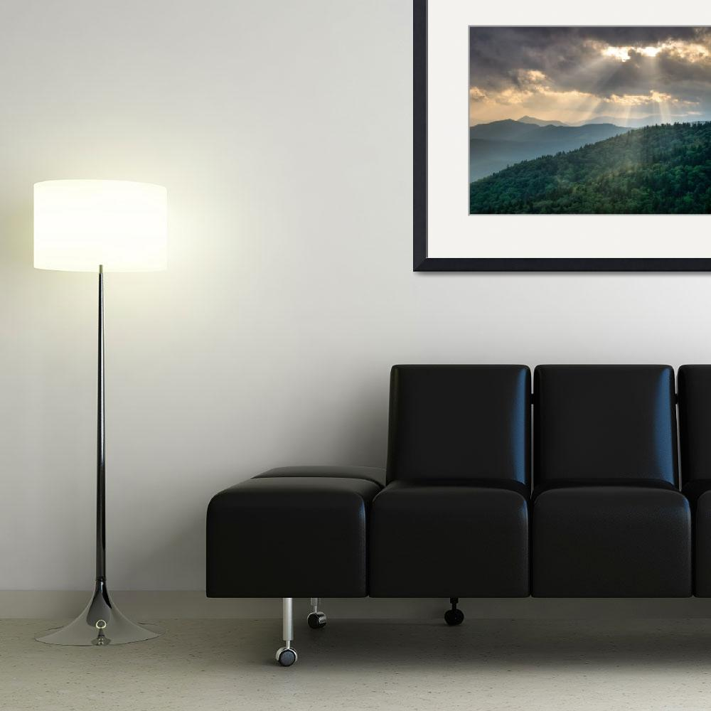 """""""And There Was Light - Blue Ridge Parkway Sunbeams&quot  (2009) by DAPhoto"""