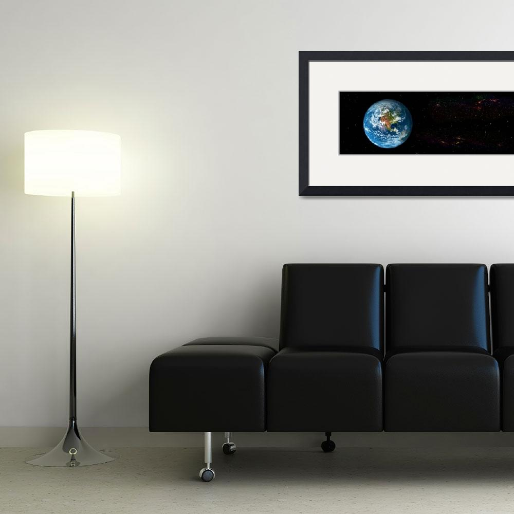 """Earth in Space showing North Americas (Photo Illu""  by Panoramic_Images"