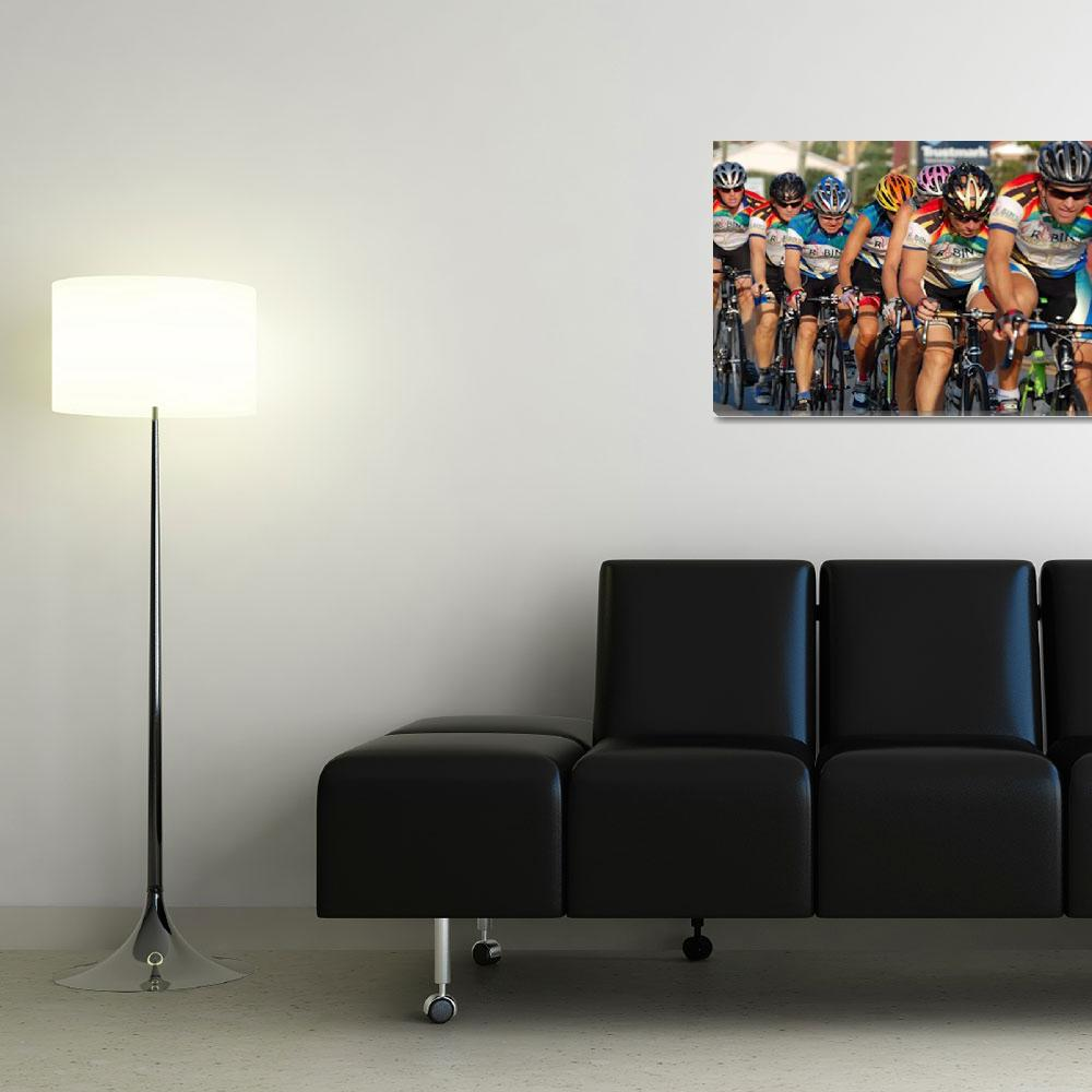 """""""Cycling Pace Line""""  (2008) by Nanwright"""