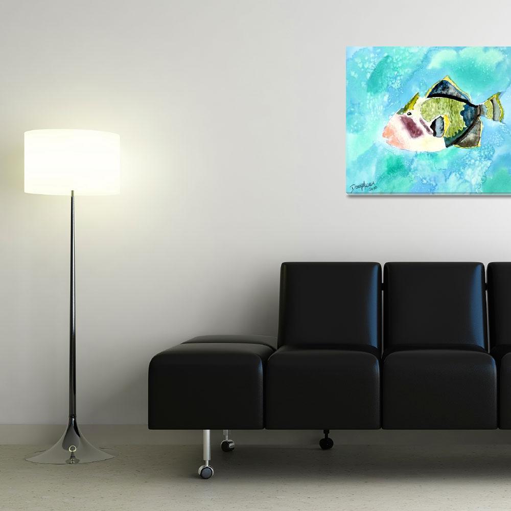 """""""trigger fish aquatic art print&quot  (2010) by derekmccrea"""