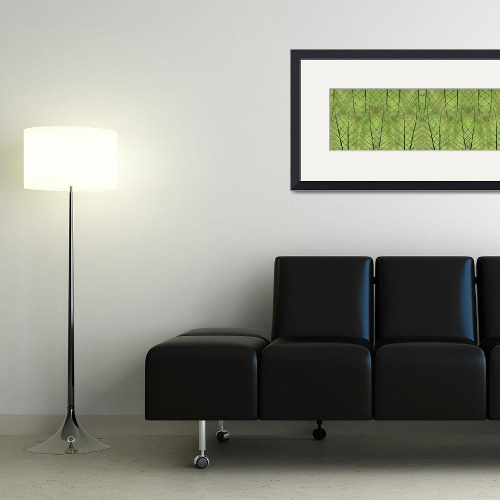 """""""Leaf Symmetry Green&quot  (2013) by CoraNiele"""