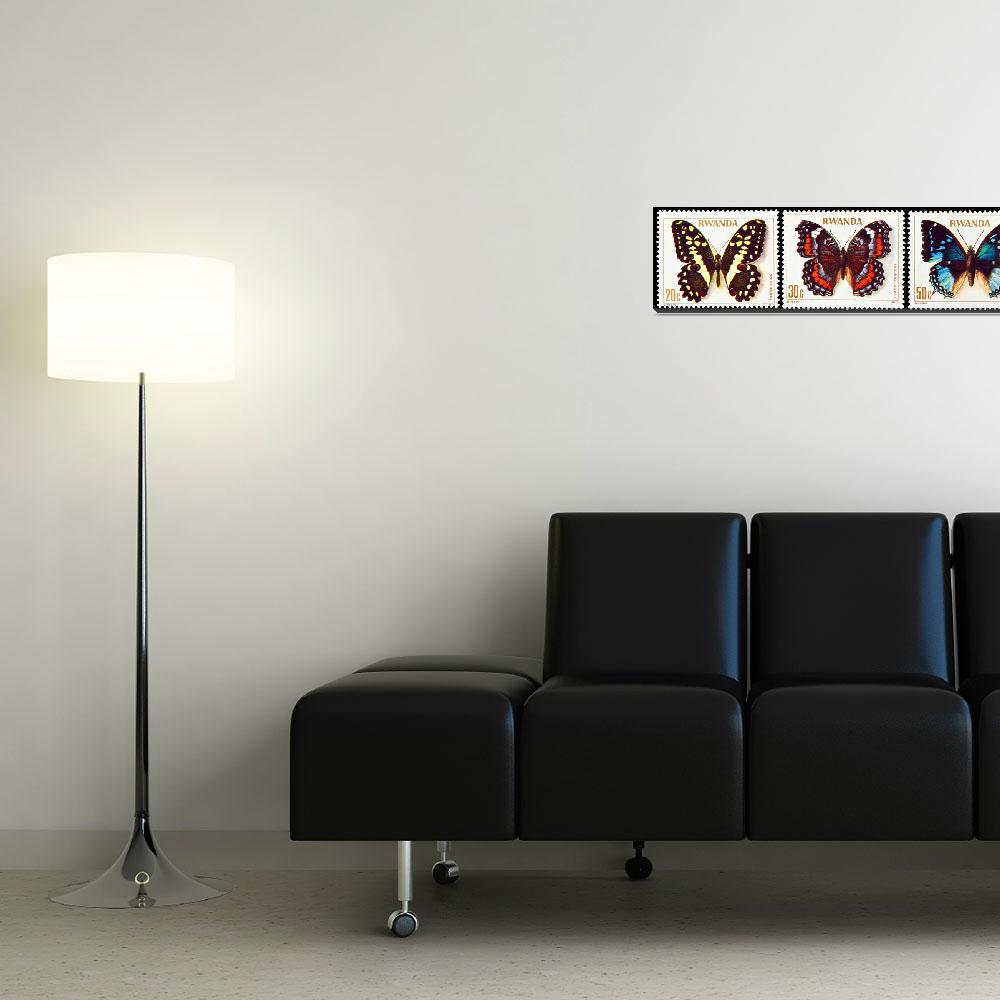 """""""Collection of butterflies stamps.""""  by FernandoBarozza"""