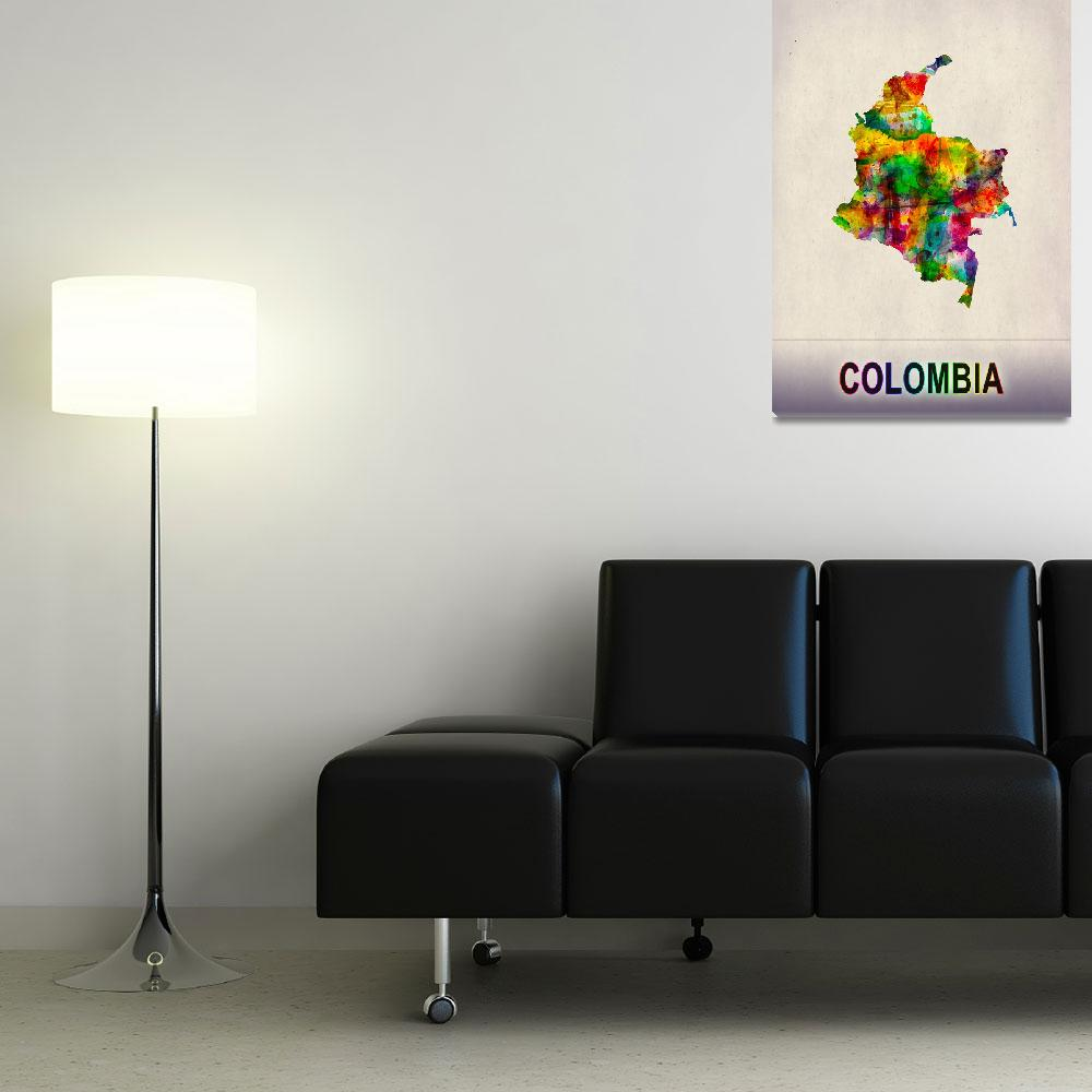 """Colombia Map""  by Towseef"