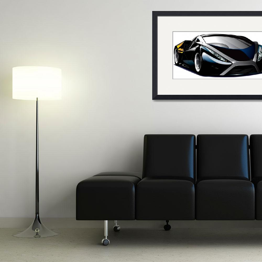 """Cool car vector&quot  (2010) by Brian_Gibbs"