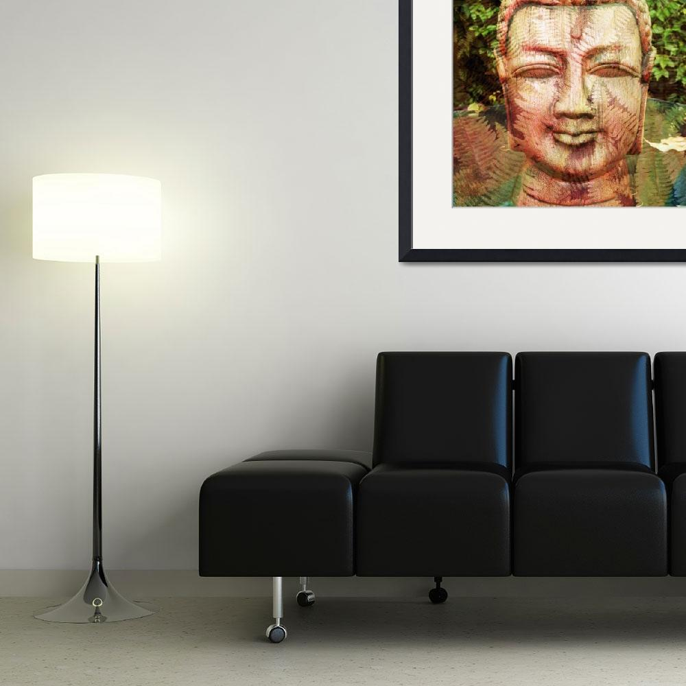 """""""Buddha with Leaves""""  (2014) by SkipNall"""