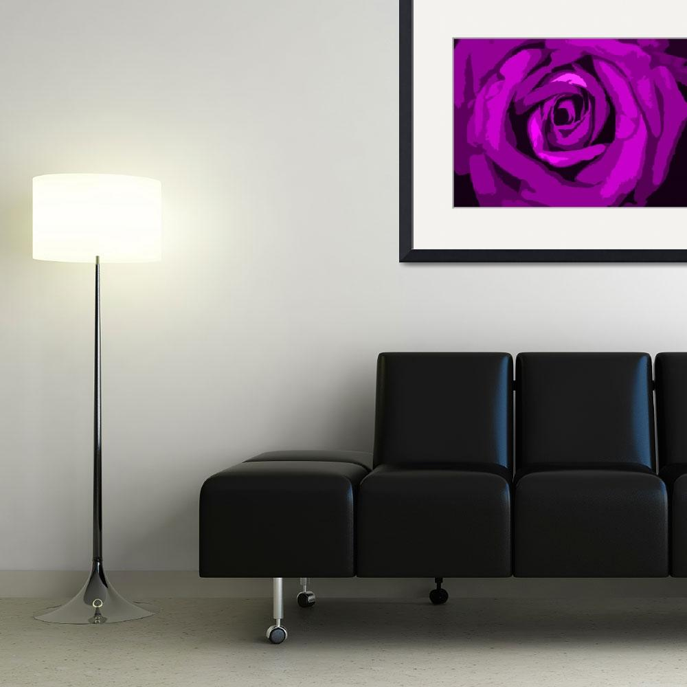 """""""Pink Rose Abstract Commercial&quot  by SouthIdahoPhoto"""