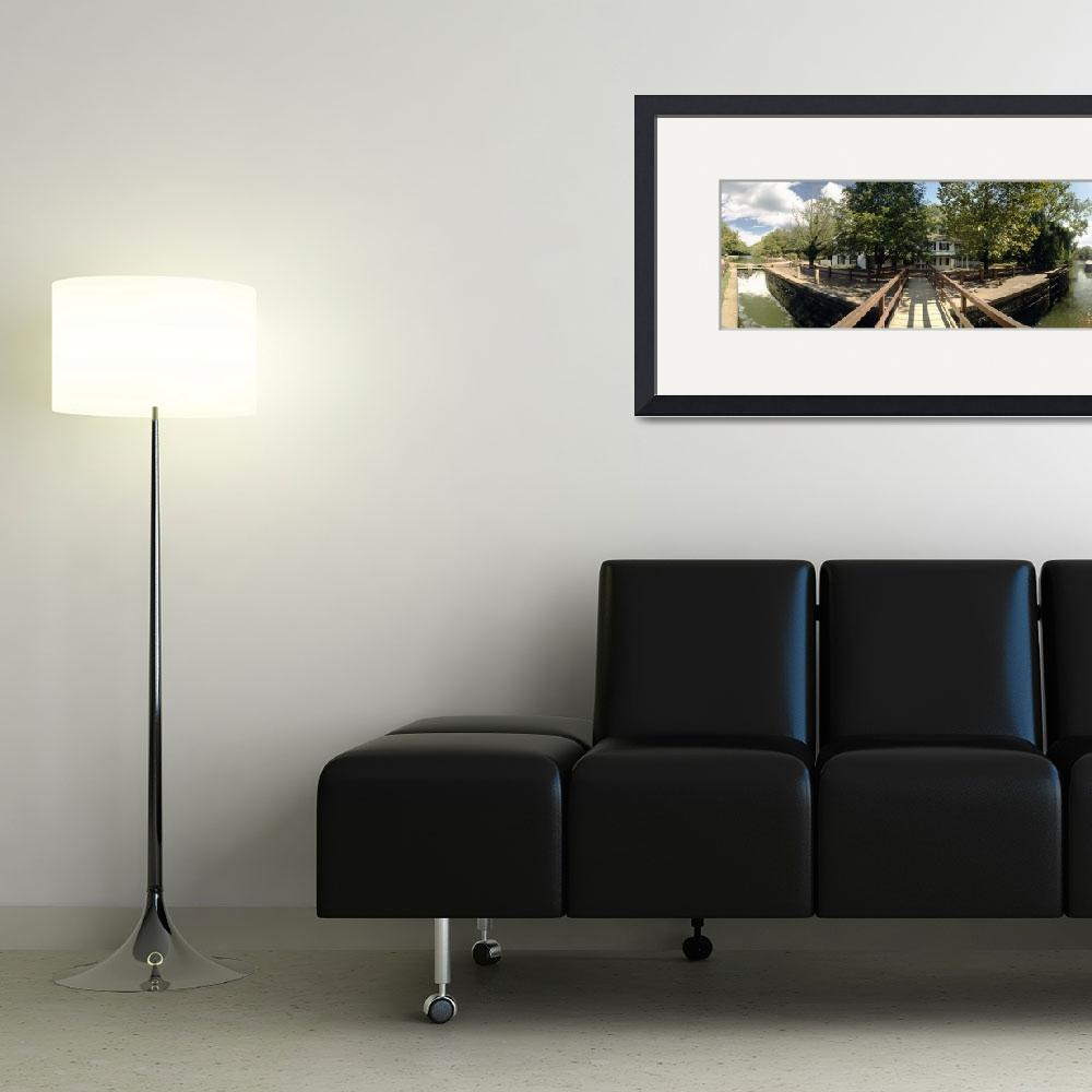 """""""Footbridge across a canal&quot  by Panoramic_Images"""