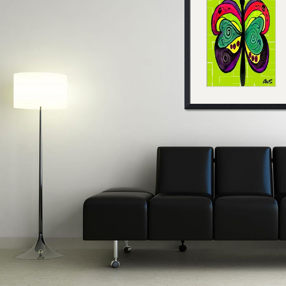 """""""ART DECO BUTTERFLY&quot  (2005) by AES"""